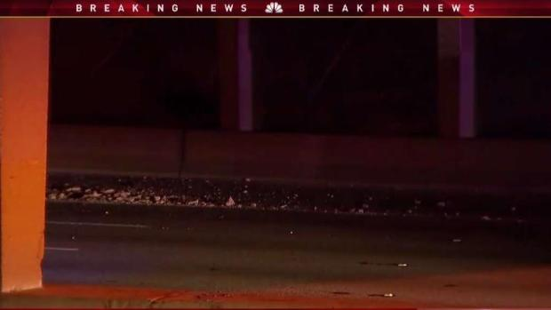 [DFW] Concrete Falls From Overpass Above I-35E At Marsalis Ave.