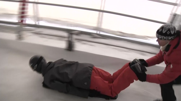[NATL] WATCH: Rare Chance to Try Skeleton Sledding