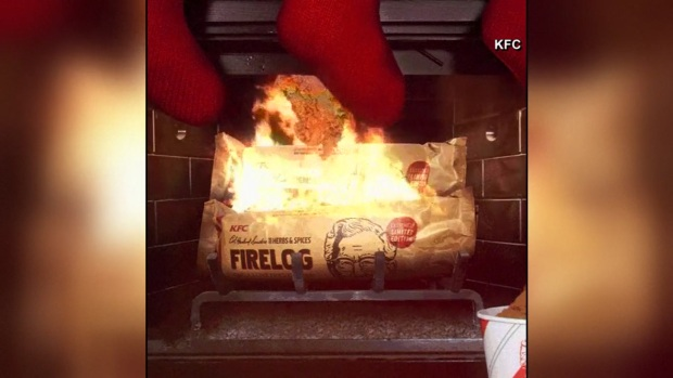[DFW] KFC Selling Fried Chicken Scented Firelogs