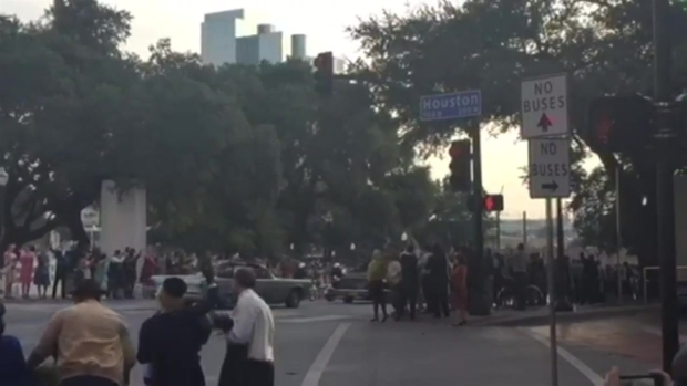 JFK Motorcade Scene for '11/22/63' Filmed in Dallas