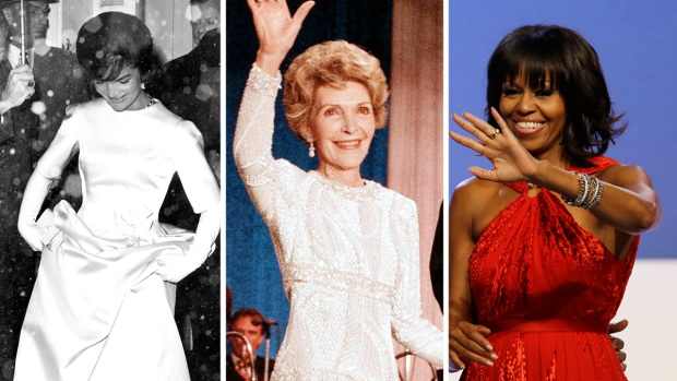 First Ladies' Inaugural Fashion Through the Years