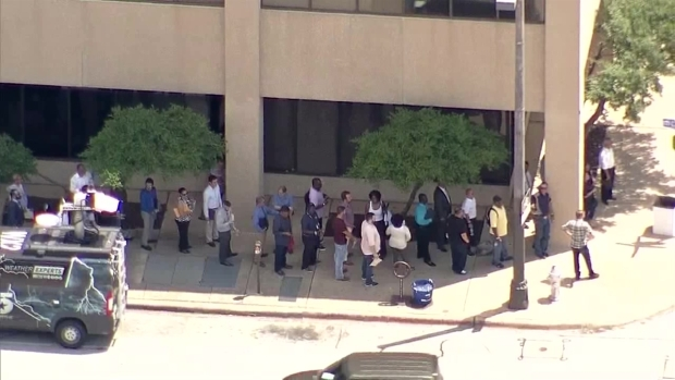 [DFW] Crowds Line Up for Lockheed Martin Job Fair (Aerial Footage)