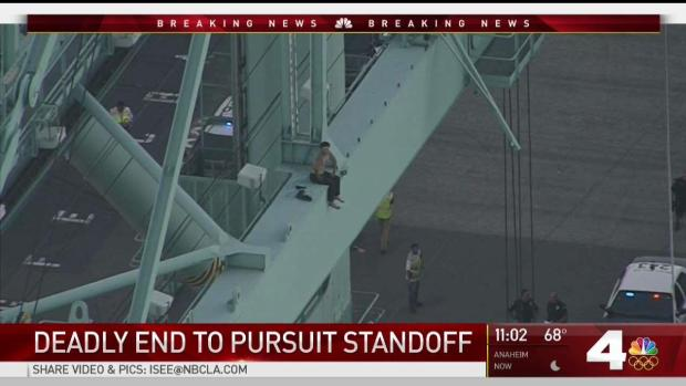 Suspect who fell or jumped from gantry crane ID'd; investigation launched