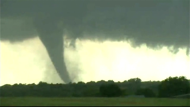 Tornado on the Ground Rips Through Oklahoma