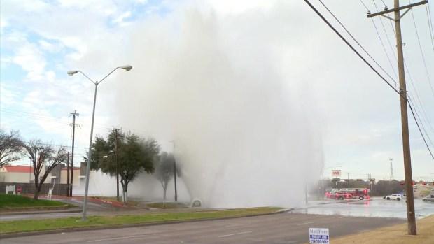 [DFW] Massive Water Main Break in Irving