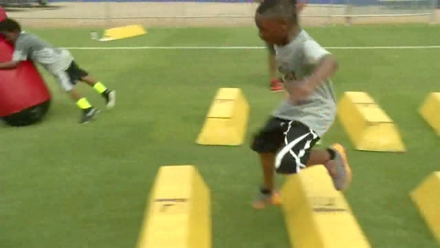 Dallas-Area Youngsters Attend Crabtree Football Camp