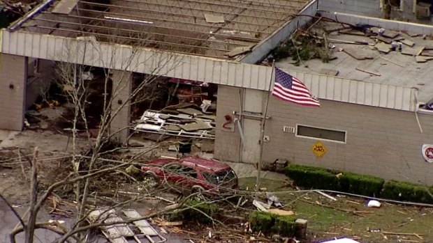 [NATL] Aerial Footage Shows Damages From Mississippi Tornado
