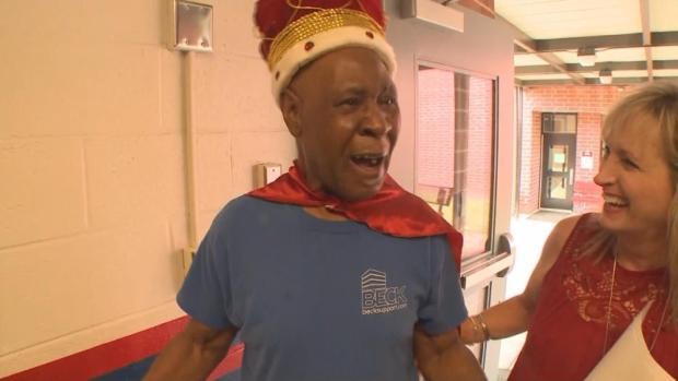 [DFW] Students Surprise Retiring Custodian