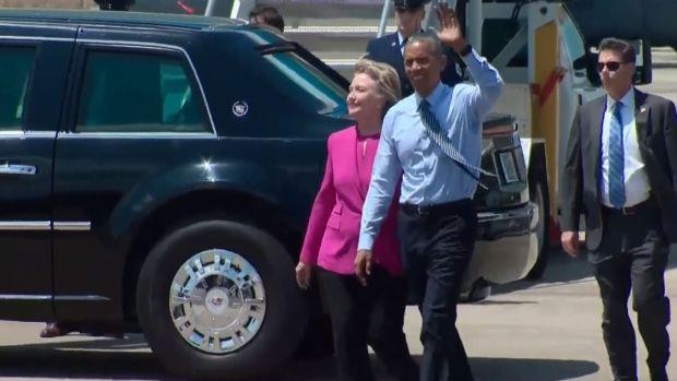 Obama Stumps For Clinton in North Carolina