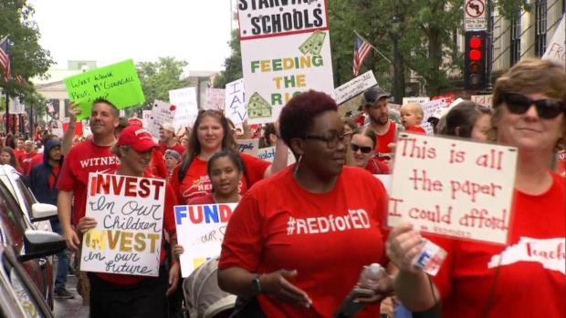 [NATL] N. Carolina Teachers Rally For Higher Pay, More Resources