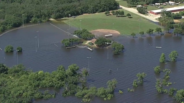 Flooded Fields at Grapevine Lake