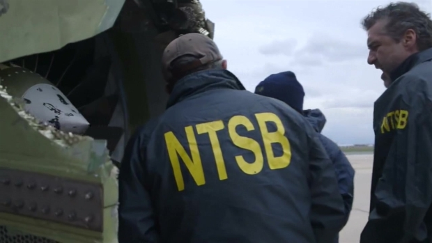 NTSB Examines Southwest Airlines Jet After Engine Failure