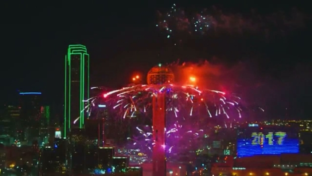 2017 Reunion Tower Fireworks