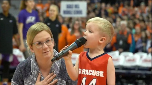 [DFW] 3-Year-Old Boy Sings National Anthem A Cappella