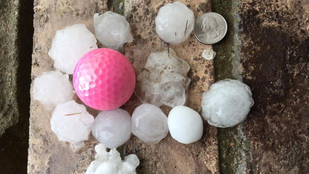 Friday the 13th Hail Storm Photos