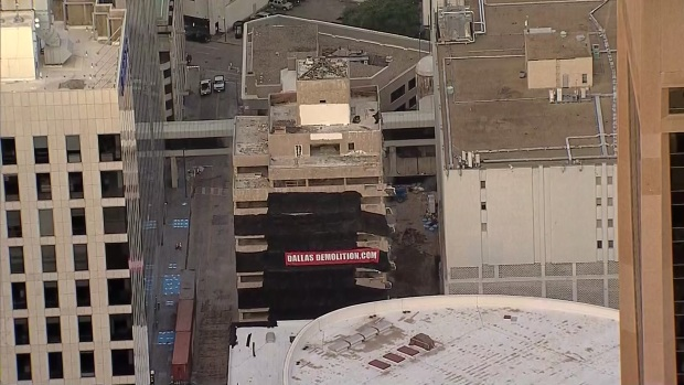Downtown Dallas Office Building Imploded