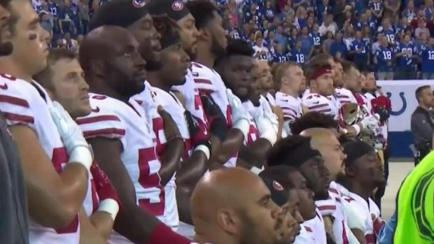 [NATL-BAY] Pence Leaves 49ers Game After Players Kneel During Anthem