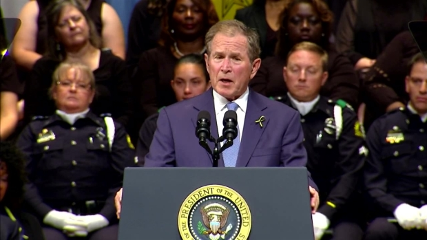[NATL-DFW] President Bush: 'Their Courage is Our Protection'