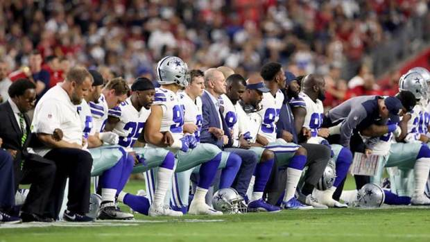 Cowboys Fans React to Team Kneeling Before National Anthem