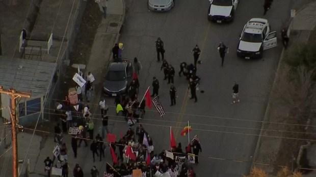 Dallas Police Tackle Anti-Trump Protester in Oak Cliff