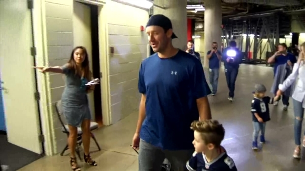 Raw Video: Romo Arrives at AAC for Mavericks Stint