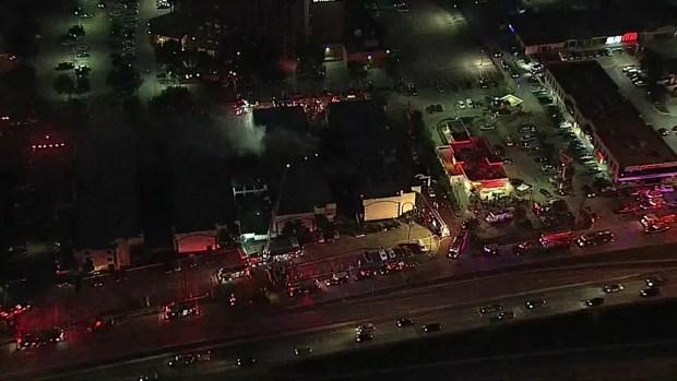 Dallas Firefighters Battle 6-Alarm Hotel Fire (Raw Video)