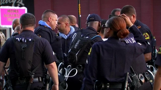 Raw Video: How DPD Handled Supporters and Protesters