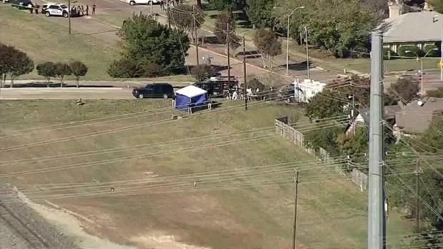 Raw Video: Child's Body Found Near Home of Sherin Mathews