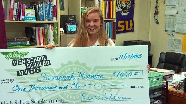 Savannah Norman is Wingstop's Scholar Athlete