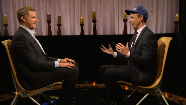 [NATL] 'Late Night': Seth Meyers and Will Ferrell Clear the Air