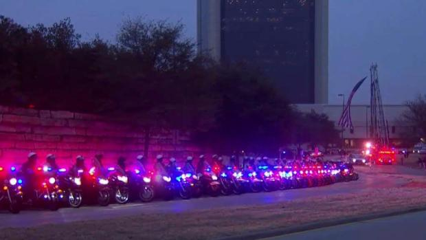 Community Pauses to Honor Fallen Richardson Officer