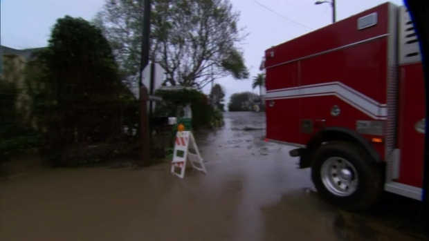 [LA] Storm Drenches the Montecito Area, Closing the 101 Freeway