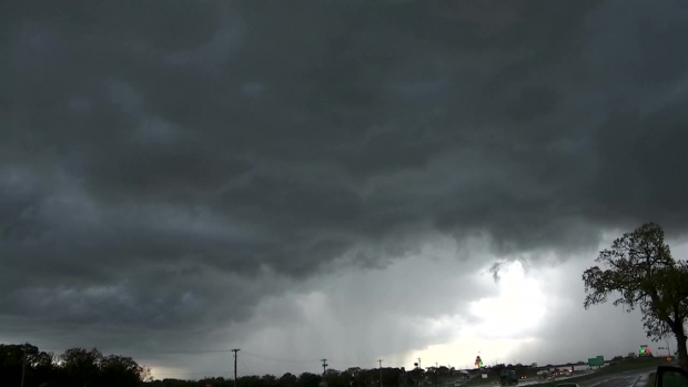 Storm Clouds Roll Into Weatherford