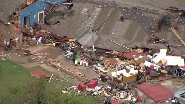 Aerial Photos of Storm Damage in HIllsboro