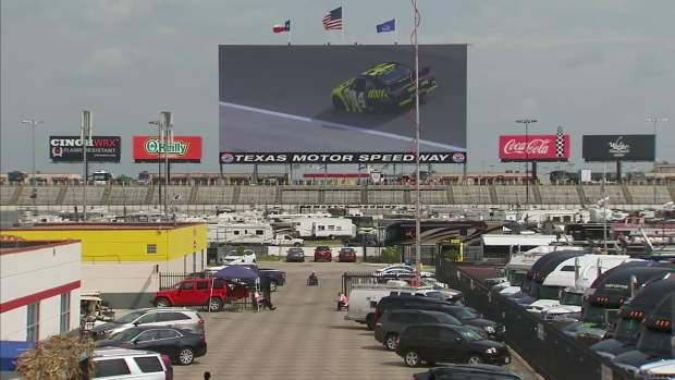 Nascar fans on guard for severe weather at tms nbc 5 for Nascar ride along texas motor speedway