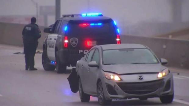 Freezing Drizzle Causes Problems on Tarrant County Roads