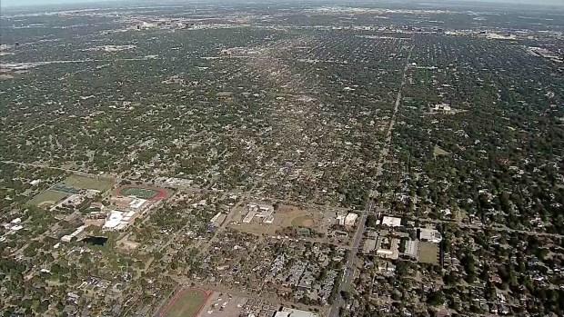 [DFW] Texas Sky Ranger Over EF-3 Dallas Tornado Path