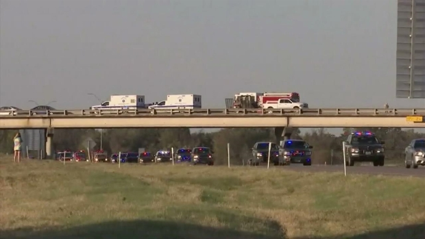 RAW VIDEO: Officers Show Support of Fallen State Trooper