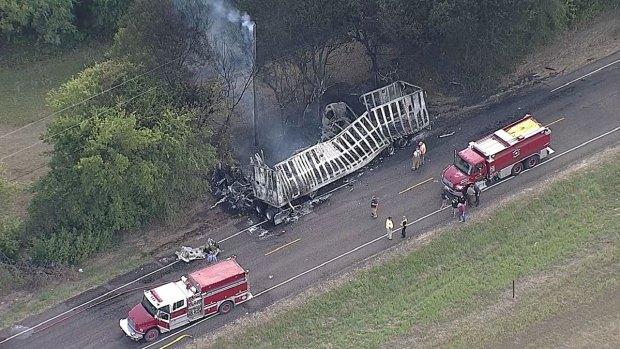 Fiery Crash in Waxahachie