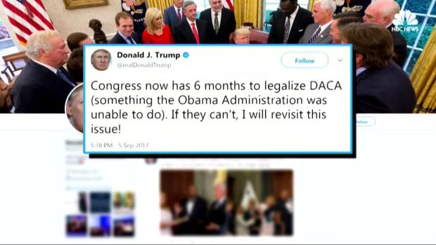 [NATL] Trump Backtracks on DACA, Strikes Debt Ceiling Deal With Dems