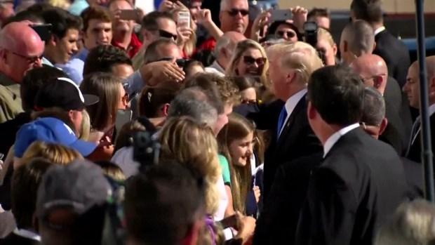 [DFW] Raw Video: President Trump Arrives in Dallas