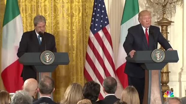 Trump and Italian PM stress importance of defeating ISIS
