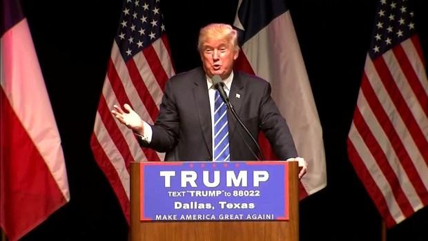 Trump Mentions NBC 5 in Speech