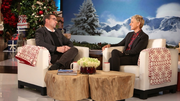 [NATL] Steve Carell Talks to Ellen About 'The Big Short', Holiday Traditions