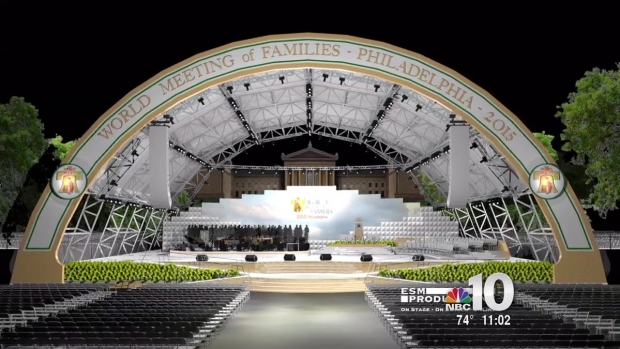 [NATL-PHI] 3D Preview Of The Stages Being Used For The Papal Visit
