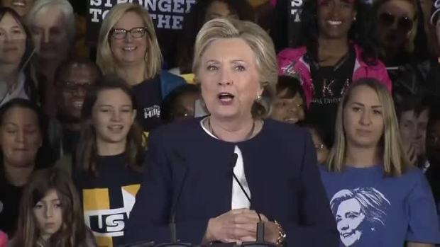 [NATL] In Final Election Stretch, Clinton Speaks in Pittsburgh