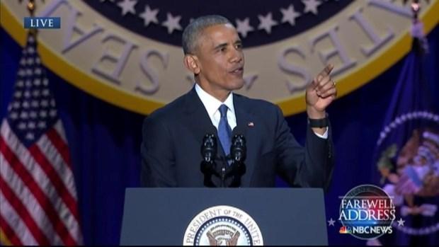 Obama Thanks 'Brother' Biden in Farewell Address