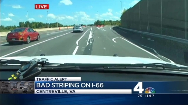 [DC] Wiggly Lines Leave Drivers Confused After Bad Striping Job