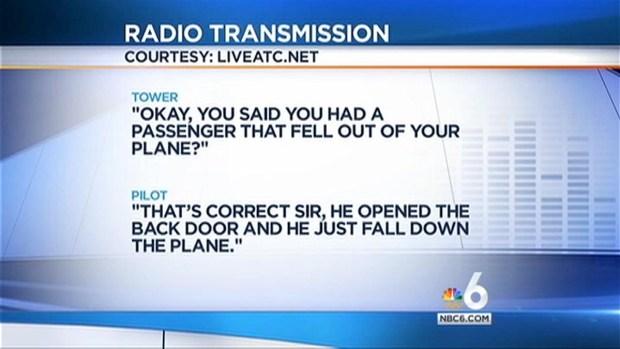 [MI] Pilot Says Passenger Fell From Small Plane Into Ocean: FAA