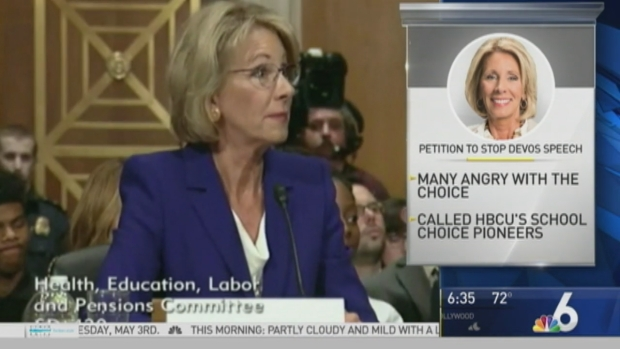 DeVos Compares School Choice to Switching Phone Carriers